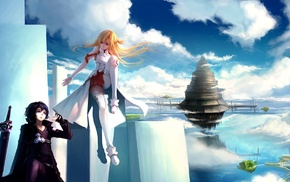 anime girls, Kirigaya Kazuto, anime, Sword Art Online, Yuuki Asuna