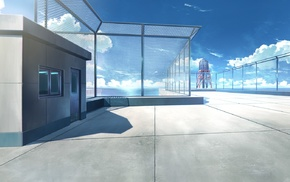 anime, rooftops, balconies