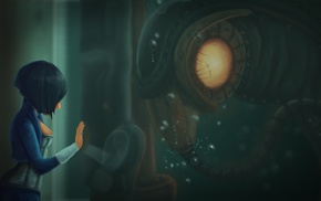 artwork, BioShock, sea, Booker DeWitt, video games, Songbird BioShock