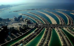 Dubai, island, houses, palm, cities