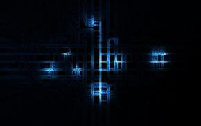 blue, lines, 3D