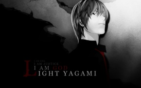 Death Note, selective coloring, Light Yagami, anime