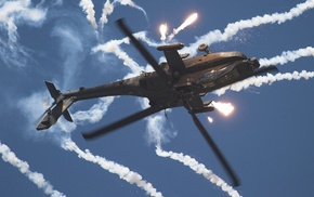 Boeing AH, 64 Apache, flares, AH, helicopters, airshows