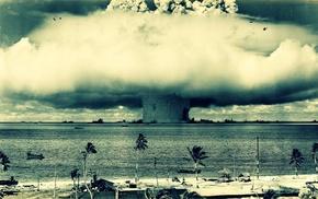 nuclear, Bomber, explosion, Oldtimer, bombs