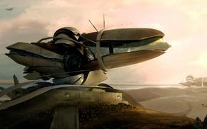 концептуальное искусство, цифровое искусство, произведение искусства, фантастическое исскуство, космический корабль