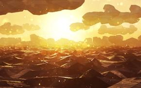 произведение искусства, концептуальное искусство, море, оранжевый, цифровое искусство