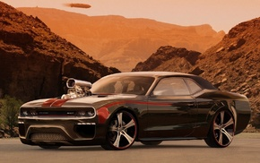 mountain, power, desert, cars, tuning