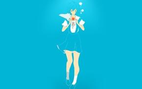 anime vectors, blue, anime, Neon Genesis Evangelion, hearts, Ayanami Rei