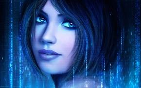 Cortana, Halo, artwork, anime, MagicnaAnavi, video games