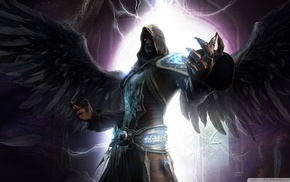 dark fantasy, angel, magician, Last Chaos, Night Shadow, Dark Angel