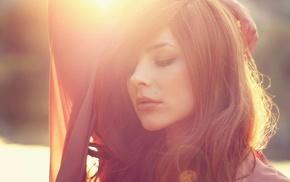 Julia Coldfront, face, sunset, girl, brunette