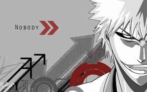 arrows, selective coloring, anime boys, Hollow, Bleach, Kurosaki Ichigo