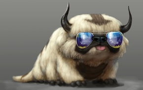 glasses, Avatar The Last Airbender, Appa