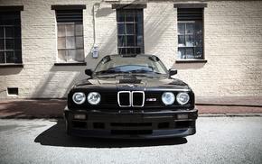 sports car, old car, black, BMW M3, car, Project CARS