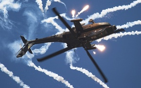 contrails, AH, 64 Apache, aircraft