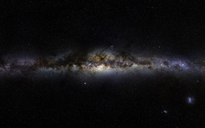 Milky Way, panorama, space, galaxy