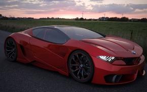 БМВ, концепт-кары, машина, красные машины
