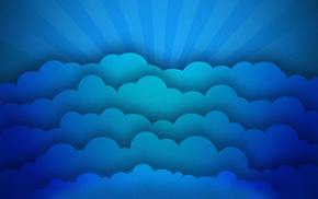 минимализм, Текстуры, лучи, облака