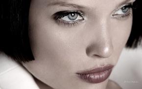 темные волосы, актриса, Франция, лицо, серые глаза