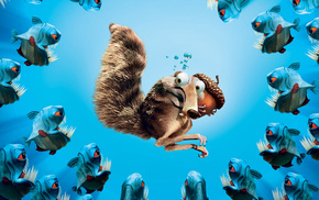 squirrel, underwater, movies